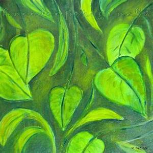 Green Leaves oil painting 12x12 fine art on by ...