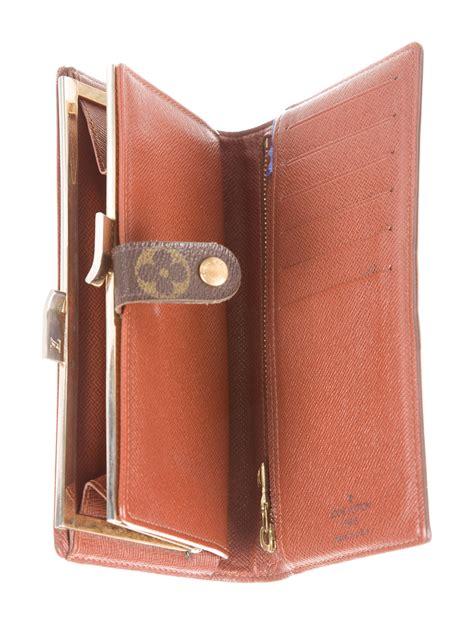 louis vuitton monogram long french purse wallet accessories lou  realreal