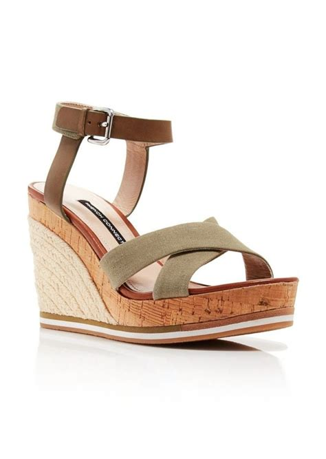 Wedges Connexion Ycw79 connection wedge sandals italian sandals