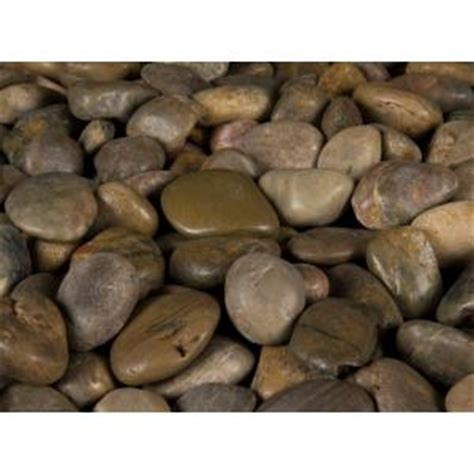 home depot decorative rock ms international 40 lb imperial river rock bag