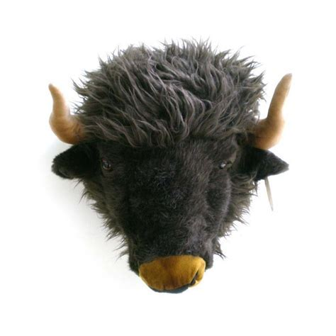 SOFT CUDDLY BUFFALO HEAD WALL MOUNT