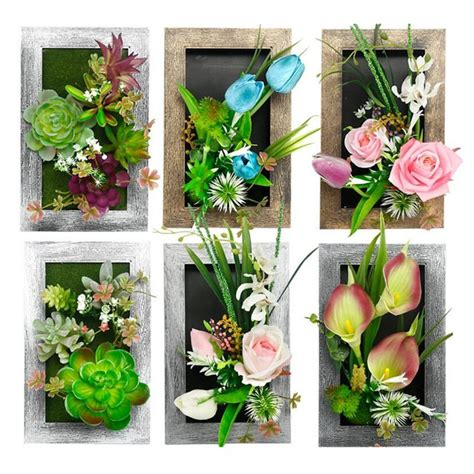 Get the best deals on leaf & foliage décor. Flone Artificial Plant Wall Hang Fake Flowers Creative ...