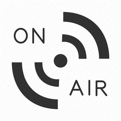 Broadcast Icon Radio Air Signal Podcast Icons