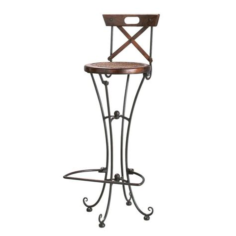chaise de bar en bois chaise de bar en bois de sheesham massif et fer forgé