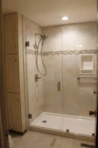 updated shower and vanity room onyx shower base tile