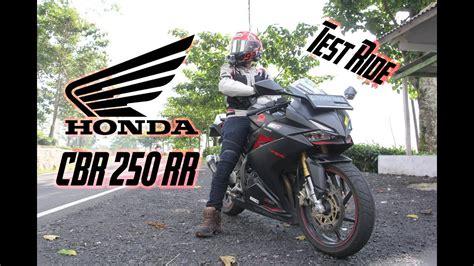 test ride cbr 250 rr knalpot tridente 3 type suara