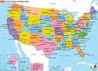 US Map with States and Cities, List of Major Cities of USA