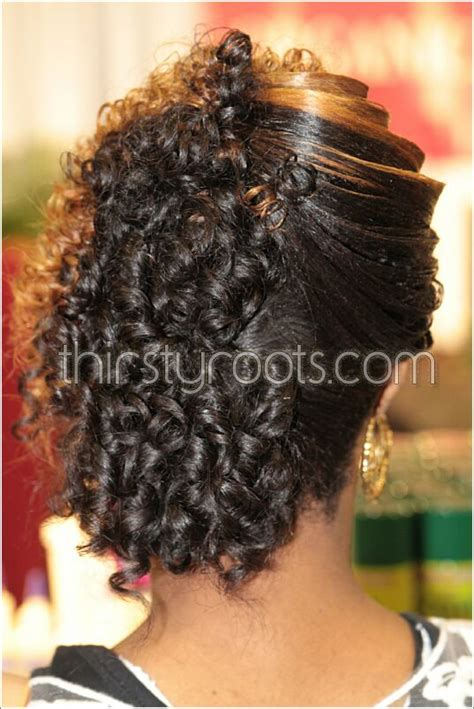 relaxed hairstyles updos