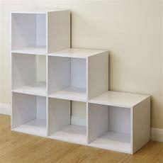 6 Cube Kids White Toygames Storage Unit Girlsboyschilds