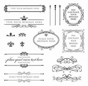vintage clip art clipart calligraphy design elements diy With wedding invitation embellishments diy