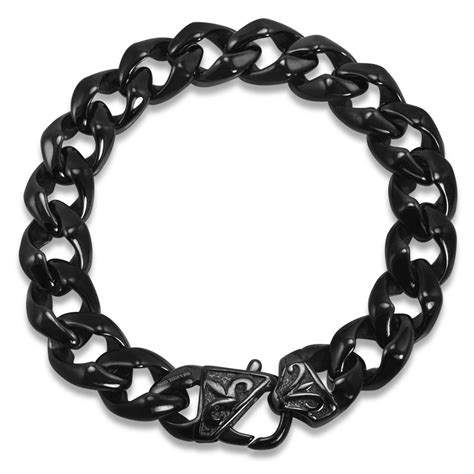 Mens Black Curb Link Stainless Steel Bracelet  Ebay. Pure Sapphire. Military Rings. Clarity Diamond. Magical Engagement Rings. Expensive Diamond Bracelet. Gold Band Wedding Ring. Suit Brooch. Citrine Earrings