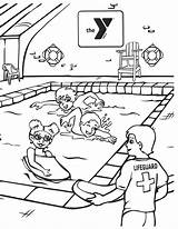 Coloring Safety Water Pages Activity Around Ymca Saw Leave sketch template