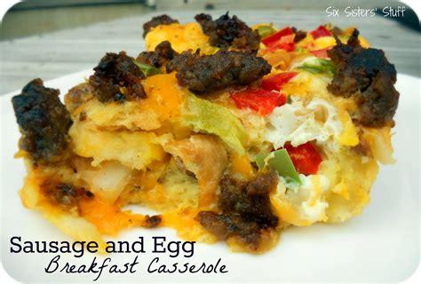 breakfast egg casserole recipe sausage and egg breakfast casserole recipe six sisters stuff