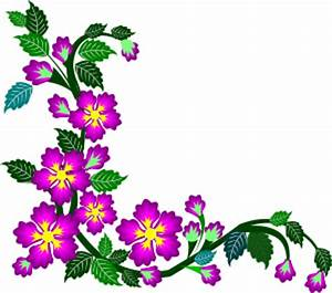 purple flower corner clipart border design 2015-16 ...