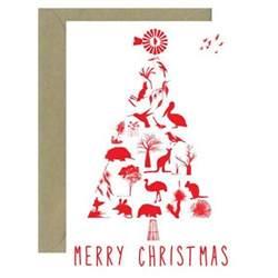 australian christmas tree card for sending overseas bits of australia