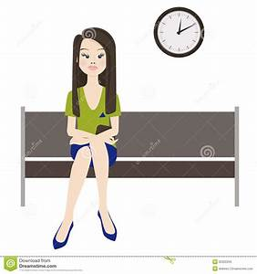 Melancholy Woman Wait Stock Images - Image: 35322234
