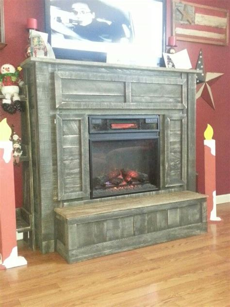 fireplace mantle   pallets decor ideas