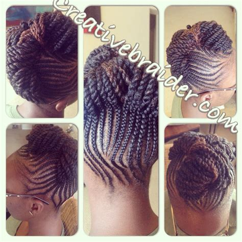 my work braids naturalhair cornrows updo pinup