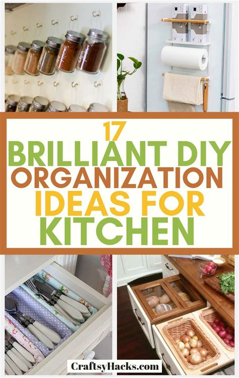 brilliant diy kitchen organization ideas craftsy hacks