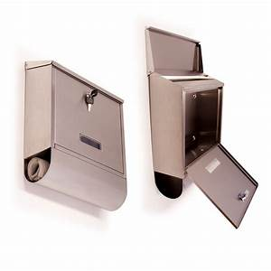 stainless steel mail letter box with newspaper slot With letter lock box