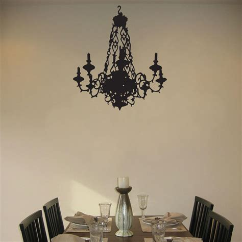 ornate chandelier with candles wall decal sticker graphic
