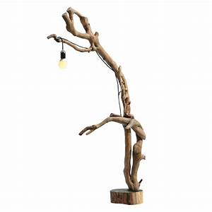 modern design floor lamp iris made of ivy and acacia wood With acacia wood floor lamp