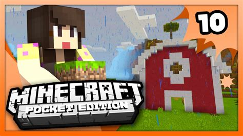 Minecraft Pe Barn by Minecraft Pe Pocket Edition Animal Barn Ep 10