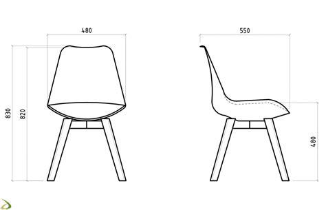 Misura Sedia sedia moderna in legno spazio arredo design
