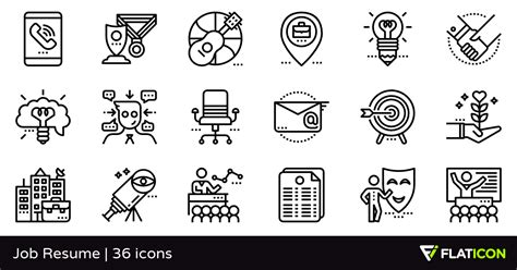 resume 36 free icons svg eps psd png files