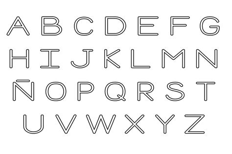 Dibujo para imprimir y colorear de Letras del abecedario