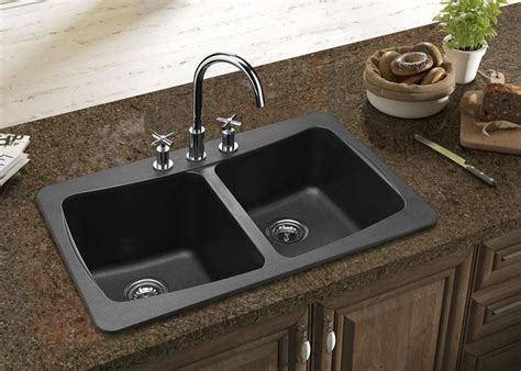 double sink granite countertop what is best kitchen sink material homesfeed