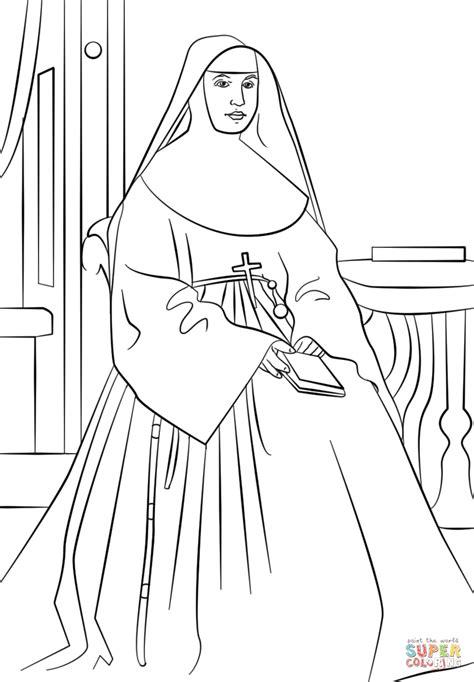 ste da colorare coloriage sainte marianne cope coloriages 224 imprimer