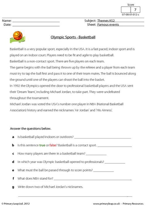 olympic sports basketball primaryleap co uk