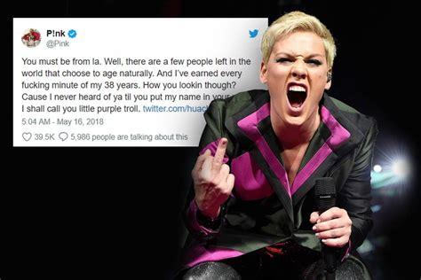La épica Respuesta De Pink Ante Un Troll De Internet Que