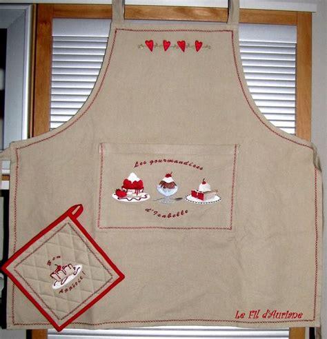 broderie tablier cuisine tabliers maniques le dé filé