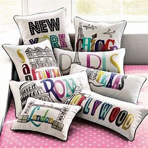 Darling Destination Pillows : PB Teen Pillow