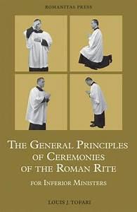 General Principles Of Ceremonies Of The Roman Rite