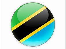 Round icon Illustration of flag of Tanzania