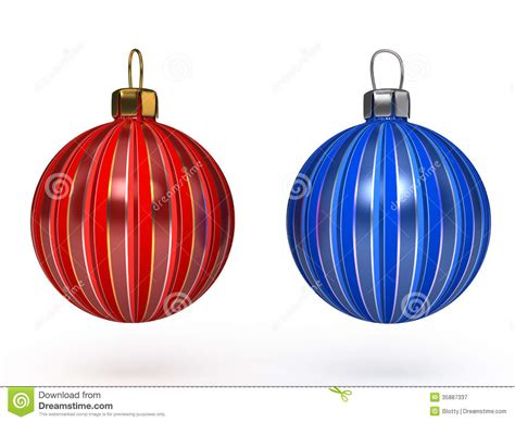 Colorful Christmas Balls Set Of Decorations Royalty Free