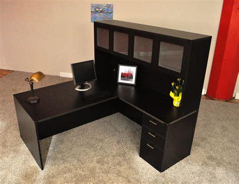affordable office rectangular l desk 7 granite state
