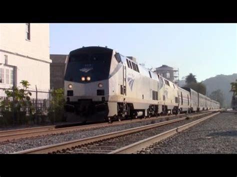 amtrak coast starlight trains  southern california youtube