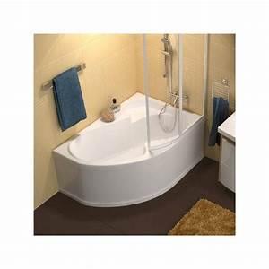 Baignoire D Angle Asymétrique : baignoire d 39 angle gain de place rosa ~ Premium-room.com Idées de Décoration