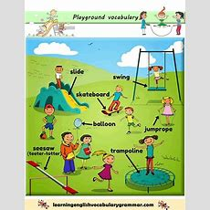 The Park And The Playground Vocabulary Pdf  English  English Vocabulary, Learning English For