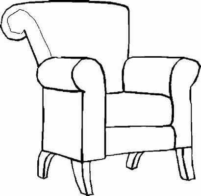 Coloring Furniture Chair Armchair Pages Chairs Table