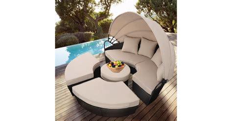 Costway Outdoor Rattan Patio Sofa Furniture