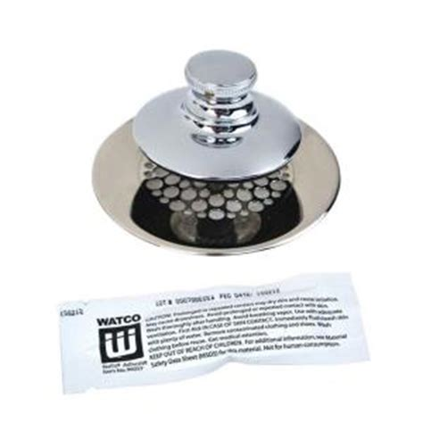 bathroom drain hair stopper canada watco universal nufit push pull bathtub stopper grid