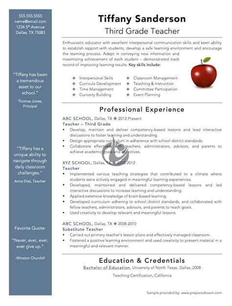 Teaching Resume Exles 2012 by Sle Resume1 Jpg