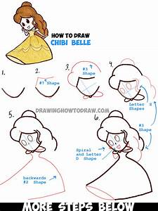 How to Draw Cute Baby Chibi Belle from Beauty and the ...