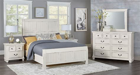 White Distressed Bedroom Furniture by Timber Creek Bedroom Set Distressed White Vaughan