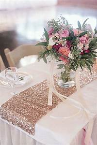 Chemin De Table Rose Gold : rose gold table runners buffet mariage pinterest le ~ Teatrodelosmanantiales.com Idées de Décoration